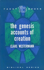 Cover of: The Genesis accounts of creation