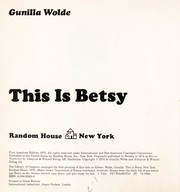 Cover of: THIS IS BETSY (Betsy Books)