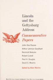 Cover of: Lincoln and the Gettysburg Address: commemorative papers