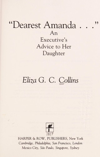 """Dearest Amanda--"" by Eliza G. C. Collins"