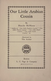 Cover of: Our little Arabian cousin | Blanche McManus
