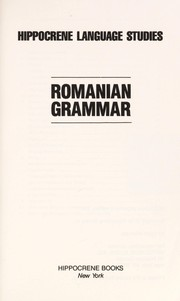 Cover of: Romanian grammar |
