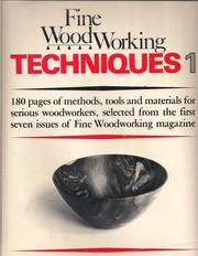 Fine Woodworking Techniques Book 1