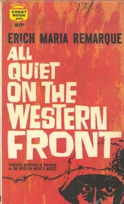 Cover of: All Quiet on the Western Front