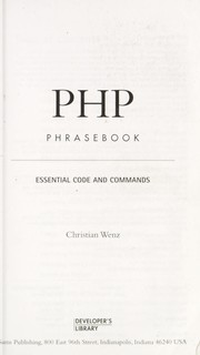 Cover of: PHP phrasebook | Christian Wenz