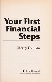 Cover of: Your first financial steps