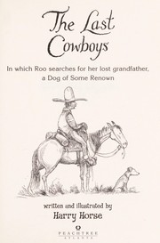 Cover of: The last cowboys | Harry Horse