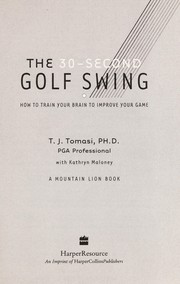 Cover of: The 30-second golf swing