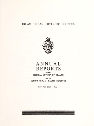 [Report 1966] by Irlam (England). Urban District Council