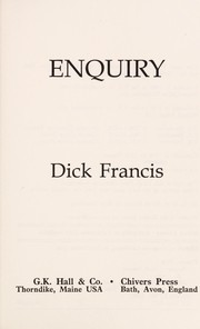 Cover of: Enquiry | Dick Francis