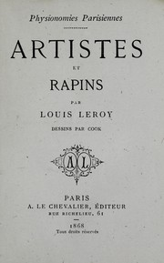 Cover of: Artistes et rapins