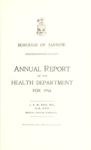 Cover of: [Report 1954] by Jarrow (England). Borough Council