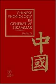Cover of: Chinese Phonology in Generative Grammar | De Bao Xu