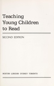 Teaching young children to read by Dolores Durkin