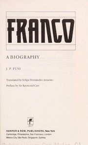 Cover of: Franco | Juan Pablo Fusi