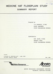 Cover of: Medicine Hat floodplain study | T. H. Winhold