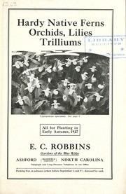 Cover of: Hardy native ferns, orchids, lilies, trilliums | Gardens of the Blue Ridge (Nursery)