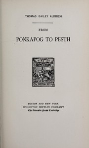 Cover of: From Ponkapog to Pesth