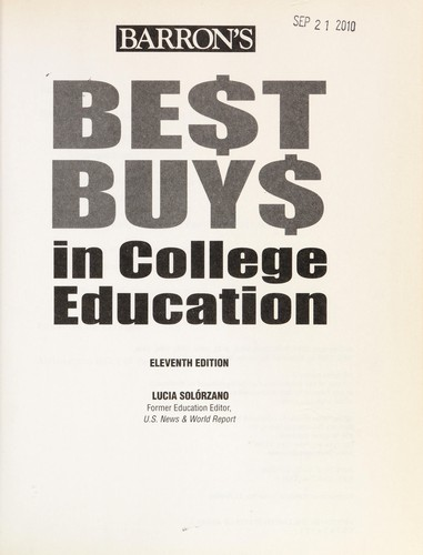 Best buys in college education by Lucia Solo rzano