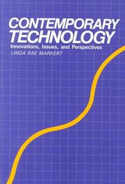 Cover of: Contemporary technology