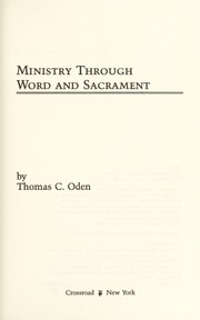 Cover of: Ministry through word and sacrament