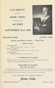 Cover of: Catalogue of rare coins | Kelly, James (Dayton, OH)
