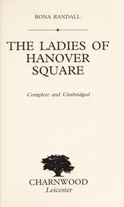 Cover of: The Ladies of Hanover Square | Rona Randall