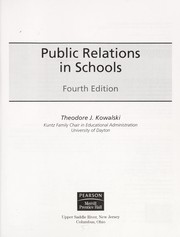 Cover of: Public relations in schools |