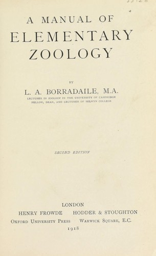 A manual of elementary zoology by L. A. Borradaile