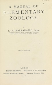 Cover of: A manual of elementary zoology by L. A. Borradaile