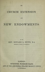 Cover of: On church extension and new endowments