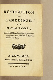 Cover of: Révolution de l'Amérique