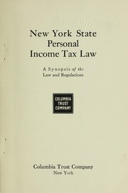 Cover of: New York state personal income tax law