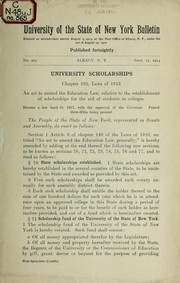 Cover of: University scholarship