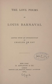 Cover of: The love poems of Louis Barnaval