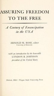 Cover of: Assuring freedom to the free | Arnold Marshall Rose