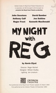 Cover of: My night with Reg | Kevin Elyot