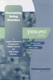 Cover of: Overcoming Eating Disorders  | W. Stewart Agras