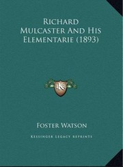 Cover of: Mulcaster's Elementarie