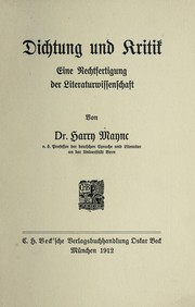 Cover of: Dichtung und Kritik