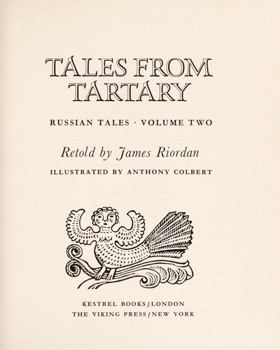Tales from Tartary by Riordan, James