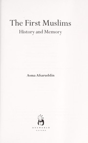 Cover of: The first Muslims : history and memory |