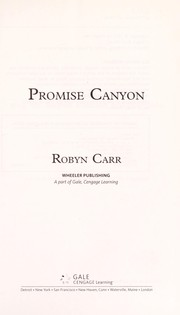 Cover of: Promise Canyon