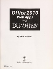 Cover of: Office 2010 web apps for dummies