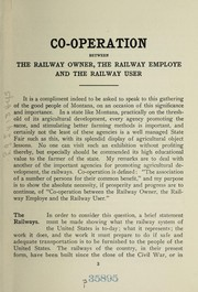 Cover of: Co-operation between the railway owner, the railway employee and the railway user; address