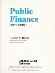 Cover of: Public finance