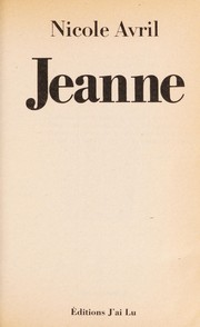 Cover of: Jeanne | Avril