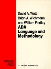 Cover of: Ada | David A. Watt