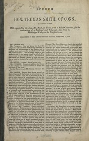 Cover of: Speech ... in support of the bill reported by Mr. Rusk ... for the construction of a railroad and telegraph line from the Mississippi valley to the Pacific Ocean
