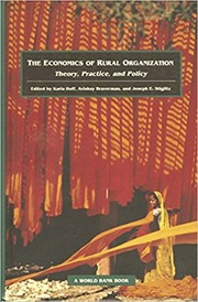 Cover of: The Economics of Rural Organization |
